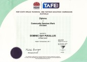 Community Services Diploma.