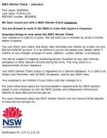 Current NDIS Worker Check